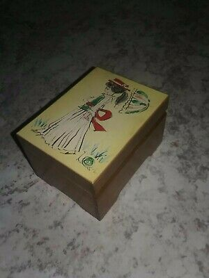 Vintage Wooden Fuji Music Box - Made In Japan