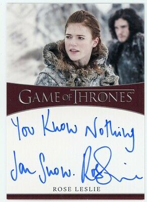 2020 Game of Thrones Season 8 Rose Leslie Inscription Autograph SCARCE
