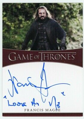 2020 Game of Thrones Season 8 Francis Magee Inscription Autograph SCARCE