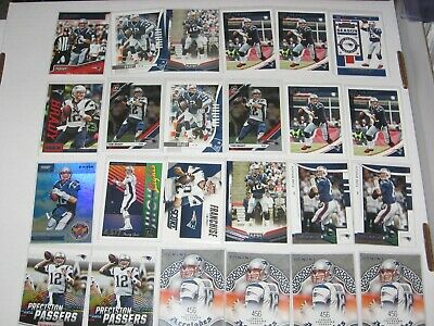24 Card Tom Brady New England Patriots Base & Insert Lot Goat!