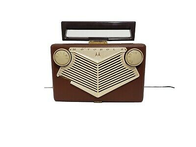 Vintage Motorola AM Tube Radio Model 56B1 with Roto-Tenna Car Grille WORKING