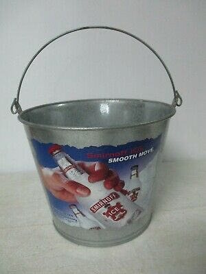 "Smirnoff Ice ""Smooth Move"" Beer Bucket Bar chest cooler bucket Pail Man Cave"