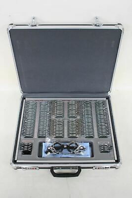UCANSEE 158 Piece Optical Lens Set Optometry Kit w Combination Lock Case NEW