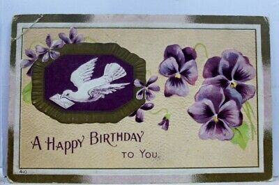 Greetings A Happy Birthday To You Postcard Old Vintage Card View Standard Post