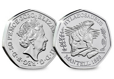 2020 UK Hylaeosaurus CERTIFIED BU 50p