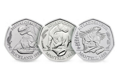 2020 UK Dinosauria 50p CERTIFIED BU Collection