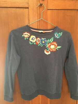 john lewis girls age 12 Sweatshirt With Embroidered Flowers.