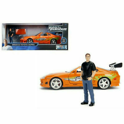 Fast & Furious 1995 Toyota Supra with Brian O'conner Figure Jada Toys 30738 1/24