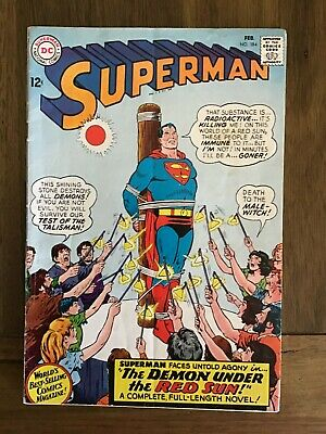 Superman 184 from 1966 Vintage DC Comics VG/F Silver Age Nice Comic