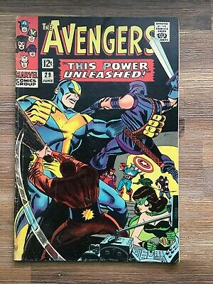 The Avengers 29 from 1966 Vintage Marvel Silver Age G/VG