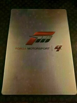 Forza Motorsport 4 (Microsoft Xbox 360, 2011) STEELBOOK + GAME - DISC IS MINT