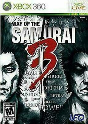Way of the Samurai 3 (Microsoft Xbox 360, 2009)VG