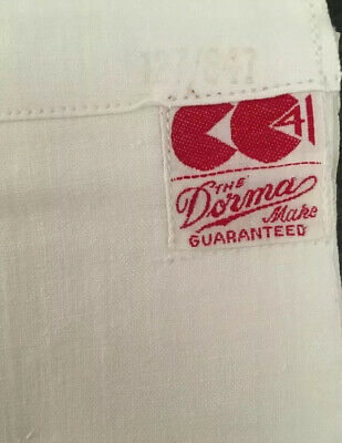 Vintage unused pair of original CC41 Double bed sheets white cotton WW2 Victor