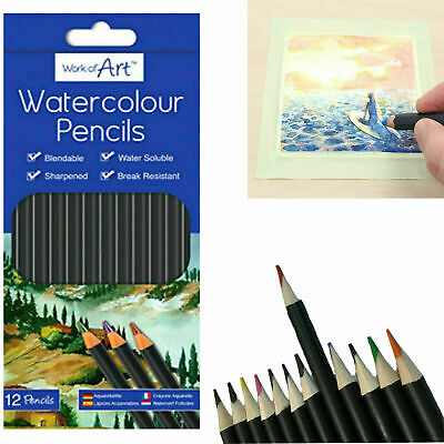 12 x  Watercolour Artist Pencils For Drawing Painting Sketching Art Water Colour