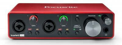 Focusrite SCARLETT 2i2 3rd Gen Audio Interface 2 IN 2 Out USB 'C'