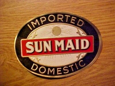 Vintage Cigar Label - Sun Maid Nail Tag Imported Domestic
