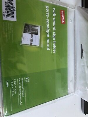 Staples Wall-Mount Sign Holder #17199-7inx5in