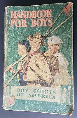 Official BSA Boy Scout Revised Handbook for Boys 1942 1st Edition 35th Printing