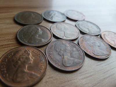 10 UK 1/2 New Pennies DIFFERENT DATES. Lot UK5