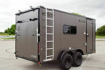 """IN STOCK 7 X 16 Off Road Toy Hauler Camper Trailer w/ 32"""" Tires Electrical"""
