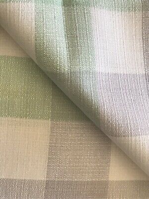 "Vintage Set Of 4 Woven Cotton Light Turqouise & White Checked Napkins 14"" Sq"