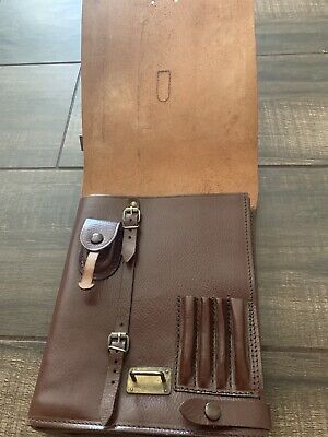 Antique Vintage Doctor's Architecture Brown Leather Bag
