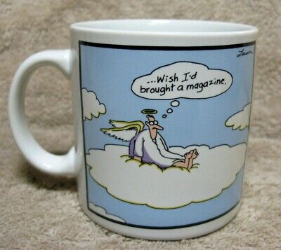 The Far Side Mug Cup Gary Larson Vtg 1985 ... Wish I'd Brought A Magazine