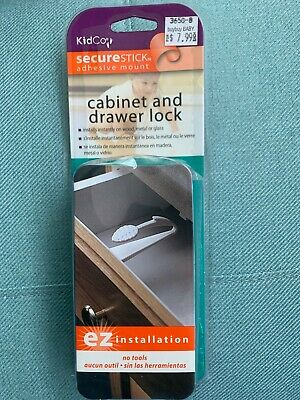 KidCo SecureStick Adhesive Mount Cabinet and Drawer Lock Brand NEW