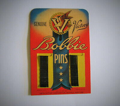 Wwii Homefront V For Victory Bobbie Pins , New Old Stock 75Yrs Old, $9.99 No/Res