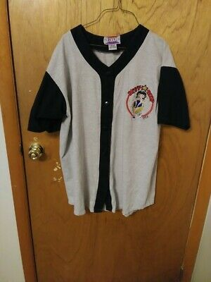 Betty Boop Embroidered Baseball Jersey Shirt One Size Fits All