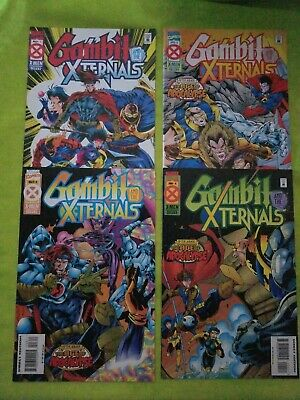 Gambit and the X-Ternals 1 2 3 4 full set 1995  X-Men Age of Apocalypse