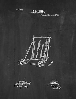 Boat Or Canoe Chair Patent Print Chalkboard