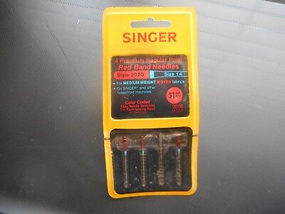 "Vintage, Un-Opened Singer 4 Premium Regular Point ""Red Band Needles""  W. Germany"