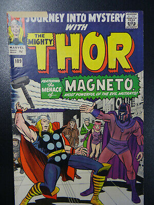 Thor 109  First Magneto First Outside X-Men Jack Kirby Silver Age Low Grade Key