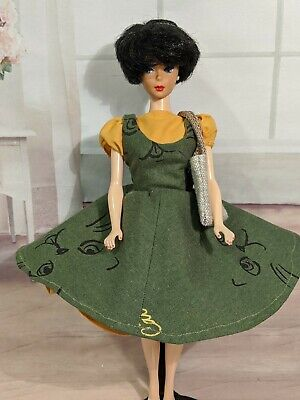 OOAK Handmade Vintage Style Barbie Dress FOR Vintage, Reproduction And Silkston