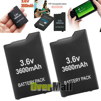 2x 3600mAh Rechargeable Replacement Battery For PSP Slim 2000 2001 2006 3000