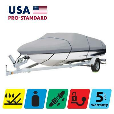 BOAT COVER for GLASTRON GTX 185, 2012 2013 2014 2015, GREY COLOR
