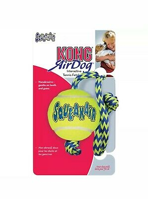 KONG AirDog SqueakAir Tennis Ball Dog Toy with Rope