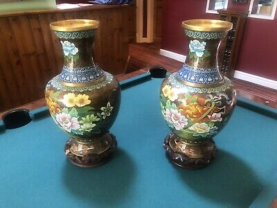 Pair Of Decorative 20th Century Chinese Vases