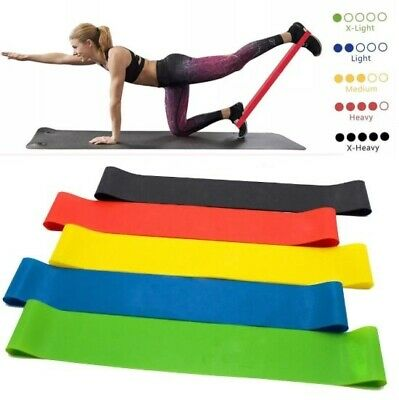 Resistance Bands Loop CrossFit Fitness Yoga Booty Leg Exercise Band Gym Workout