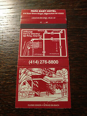 Vintage Matchbook Cover match: Park East Hotel, Milwaukee, WI    Q