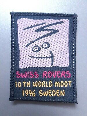 in531 INSIGNE SCOUT 10th WORLD MOOT 1996 SWEDEN SWISS ROVERS SCOUTING BADGE