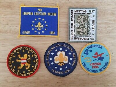 in533 LOT 5 INSIGNES SCOUT COLLECTORS MEETING LEUVEN BELGIUM SCOUTING BADGE