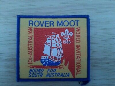 in534  INSIGNE SCOUT 10th ROVER MOOT WORLD AUSTRALIA 1986  SCOUTING BADGE