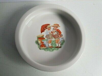 Baby Plate Bowl Child's China Dish Antique