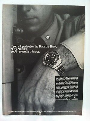 1966 Rolex Print Advertising Submariner If You Shipped Out.. Very Rare Watch Ad