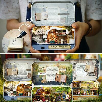 Dolls House The Tin Box Theatre Series DIY Handcraft Miniature Project Gift Kits