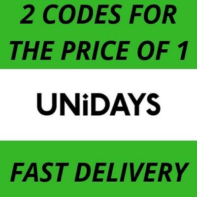 Unidays Discount Codes - 2 For The Price Of 1 -  Fast Delivery - Uk Only