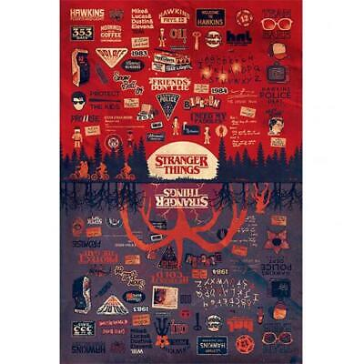 Stranger Things Poster The Upside Down 145 Official Merchandise