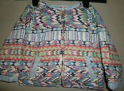 Next Girls Mulitcoloured Quilted Summer Jacket Age 2-3 Years